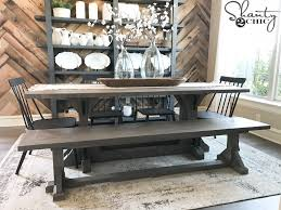 DIY Industrial Corbel Dining Bench It Is The Perfect Match To Table But Could Also Stand Alone