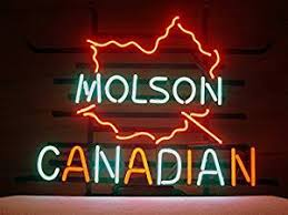 New Molson Canadian Real Glass Neon Light Sign Home Beer Bar Pub