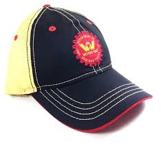 100 Star Trucking Company Black Yellow Western Trucks Gear Logo Adjustable Hat At