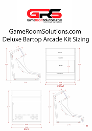Mame Arcade Cocktail Cabinet Plans bartop arcade kit deluxe game room solutions arcade
