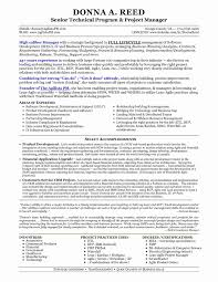 Project Management Sample Resume Fresh Manager Unique It