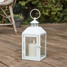 weiße metall laterne klein mit truglow kerze lights4fun de