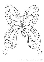 Educational Coloring Pages Butterfly Games Free Cute Kids