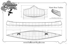 Free Wood Boat Plans by Mystic River Tandem Canoe Guillemot Kayaks Small Wooden Boat