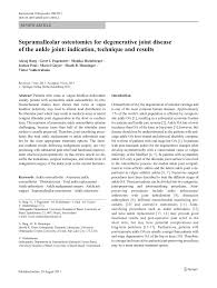 si e orthop ique supramalleolar osteotomies for pdf available