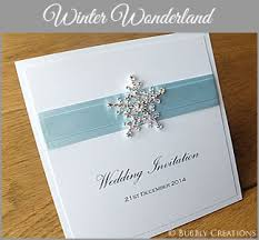 Winter Wedding Invitation With Snowflake Sparkly In Light Blue