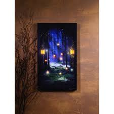 Enchanted Woods With Lanterns Lighted Picture