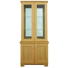 miami showcase with door glass window and soft close car metallic