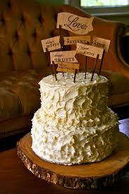 30 Rustic Wedding Theme Ideas Banner Cake ToppersRustic