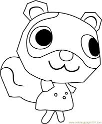 Sylvana Animal Crossing Coloring Page