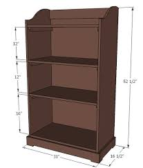 wall mounted bookcase woodworking plans diy shelving pinterest