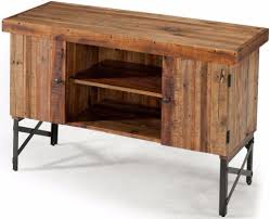 Rustic Reclaimed Wood Sofa Table Storage Cabinet Living Room Furniture New