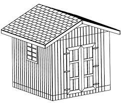 10x10 Shed Plans Blueprints by Custom Gable Shed Plans 10 X 10 Shed Detailed Building Plans