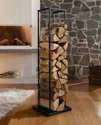 design kaminholz ständer modern regal halter holz brennholz
