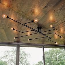 vintage deckenleuchten 8 köpfe retro industriellen laras de techo restaurant loft moderne deckenleuchte bar cafe esszimmer licht
