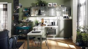 one wall kitchen shelves and cabinets