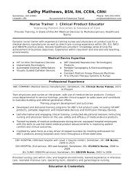 Sample Resume For A Nurse Trainer