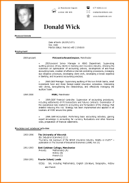 Example Resume English Of In With Profile Examples