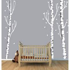 Wall Mural Decals Cheap by Wall Art With Birch Tree Wall Decals For Kids Rooms