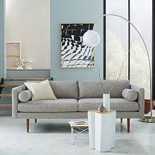 West Elm Overarching Floor Lamp by Overarching Linen Shade Floor Lamp Polished Nickel Overarching