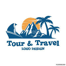 Logo Tour Travel And Design Ship Palm Mountain Sun Sunrise Create Online Banner