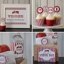 100 Fire Truck Lunch Box Printable Party Package Etsy