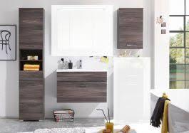 badmöbel set seattle 3 tlg hochschrank badezimmer waschtisch braun sangallo