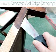 Decorative Metal Banding For Furniture by Working On The Edge Applying Edge Banding To Furniture