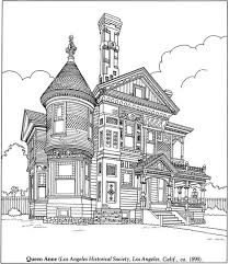 Challenging Realistic Coloring Pages Of Victorian House