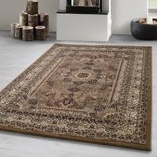 orientteppich kurzflor wohnzimmerteppich klassiker teppich orientalisch beige