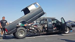 100 Truck Turbo Gnarly Custom Mid Engine With Twin On The Drag Strip
