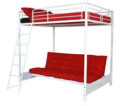 mezzo lit mezzanine 140x190 avec banquette clic clac blanc prix