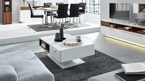 interliving wohnzimmer serie 2102 couchtisch dunkles asteiche furnier weißer mattlack ein offenes fach eine schublade
