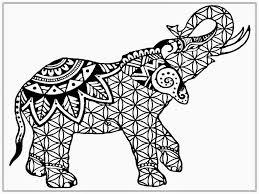 Elephant Mandala Coloring Pages