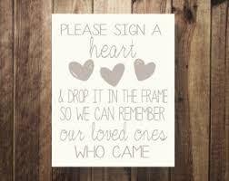 Please Sign A Heart Wedding Guest Book Our GuestBook Reception