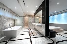 interior master bedroom with open bathroom contemporary on