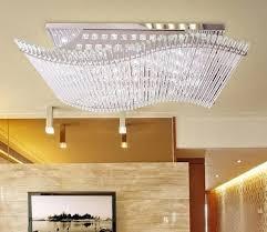 großhandel moderne minimalistische led k9 kristall rechteckige deckenleuchte esszimmer kronleuchter fernbedienung ligh crystalk9 425 71 auf