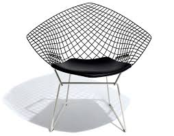 Bertoia Diamond Chair Two Tone With Seat Cushion - Hivemodern.com Bertoia Diamond Lounger Knoll Shop Diamond Ta Armchair Nuans Chair Intertional Harry 1952 Design Armchair Gold Plated Couch Potato Company By Cane Line Yliving With Sunbrella Cushion Skandium Eyecatching Harryarm Insp Metal Chair Stylized Outdoor Bronze Base Tonus 4 210 Small With Seat Cushion