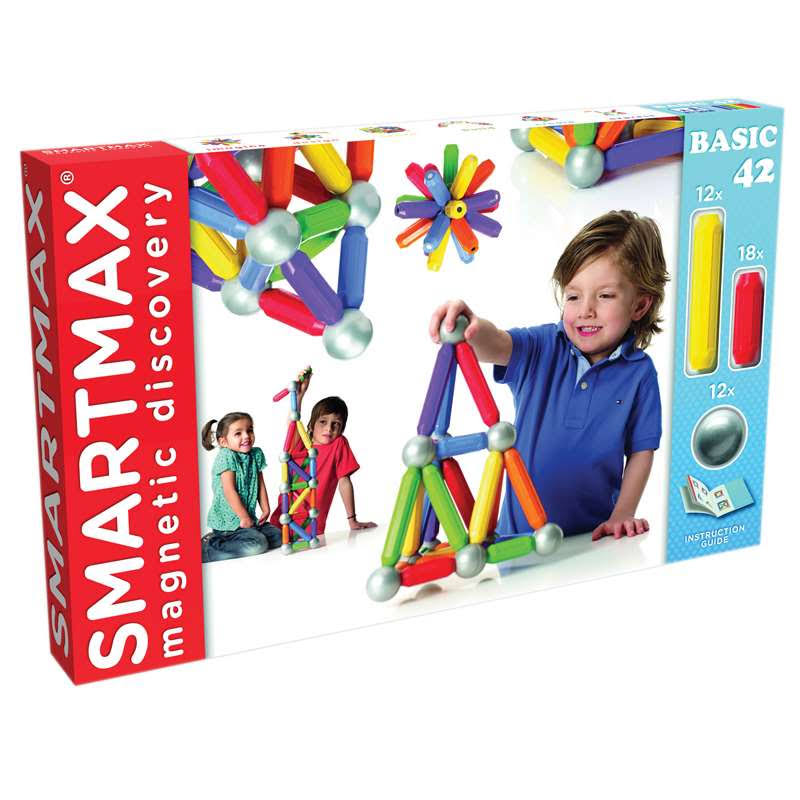 Smart Games SmartMax XL Basic Magnetic Building Set - 42pcs
