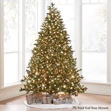 4 Ft Pre Lit Led Christmas Tree the world u0027s best prelit noble fir 4 5 u0027 full hammacher schlemmer