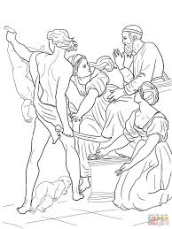 Solomon Threatened To Split The Baby In Half Coloring Page Pages View Printable Version Or Color