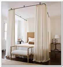 Ceiling Mount Curtain Rods Canopy Bed Eyelet Curtain Curtain Ideas