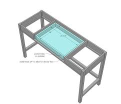 Diy Sewing Cabinet Plans by Ana White Desks That Convert To Table For Our Tiny House On