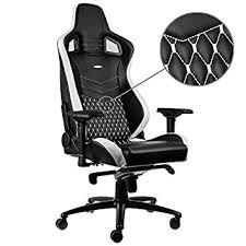 fauteuil bureau en cuir noblechairs nbl rl epc 001 epic leather gaming fauteuil