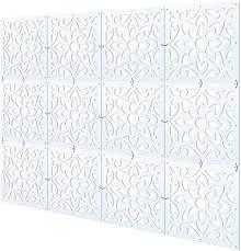 myeussn raumteiler paravent weiß diy paravents raumtrenner sichtschutz umweltfreundlichem pvc holz plastik trennwand home dekoration für wohnzimmer