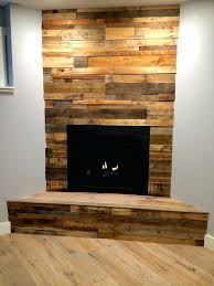 Pallet Wall Fireplace With Electric