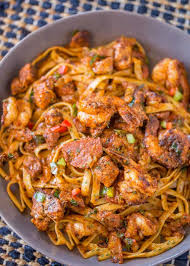 easy cajun jambalaya pasta dinner then dessert