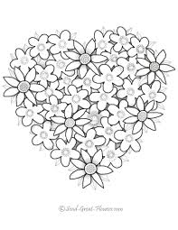Free Printable Heart Coloring Pages 17 Easy Valentines Day Hearts And