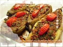 recette de cuisine tunisienne avec photo aubergine farci avec de la viande hachée la cuisine tunisienne d