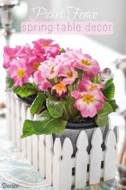 Spring Picket Fence Table Centerpiece
